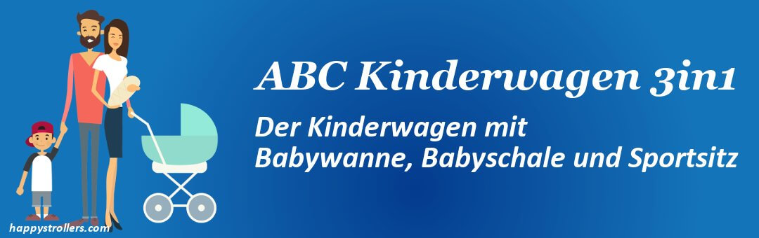 ABC Kinderwagen 3 in 1